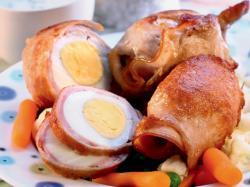 Jajka w szynce