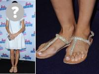 Okropny pedicure gwiazdy, okropny pedicure Dorota Czaja na premeirze musicalu Barbie Rockowa Księżniczka