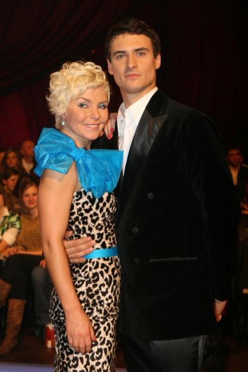 Mateusz Damięcki i Ewa Szabatin