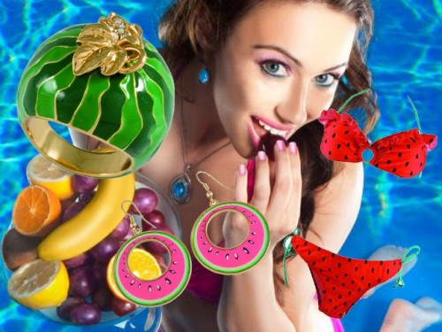 owoce, SIX, biżuteria