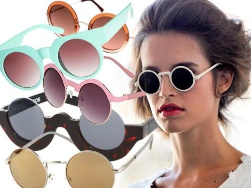 modne okrągłe okulary pzreciwsłoneczne 2012