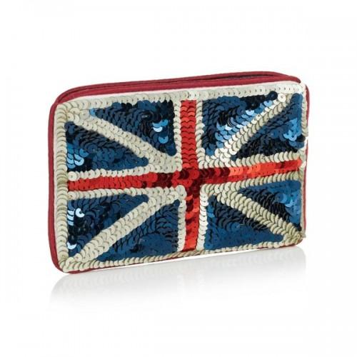 cekinowa portmonetka z flagą Wielkiej Brytanii, Accessorize
