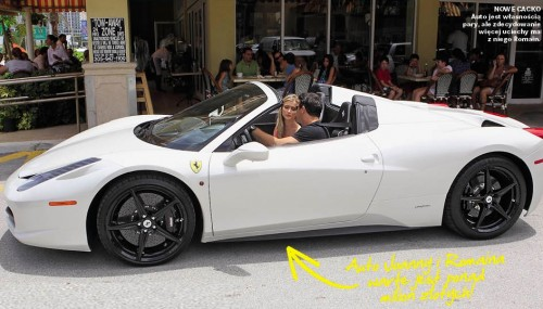 photo of Joanna Krupa Ferrari 458 - car