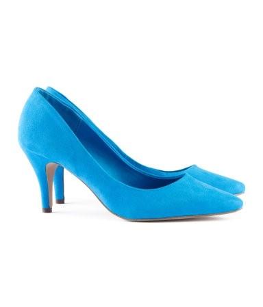 Niebieskie czółenka H&M