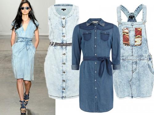 Dżinsowe sukienki na wiosnę 2013