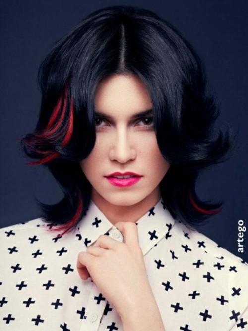 fryzury wiosna 2013 Artego, długie włosy