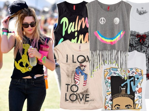 Ashley Benson w T-shircie z nadrukiem