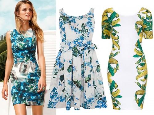 Weselne sukienki w kwiaty
