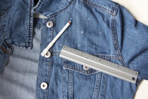 Ozdabianie kurtki jeansowej - krok po kroku