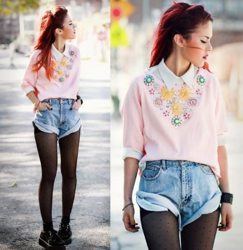 Pastelowe bluzy, trendy wiosna 2014