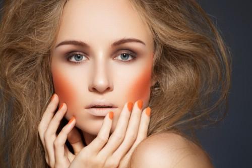 paznokcie, manicure, kobieta, makijaż