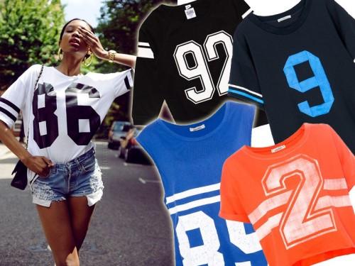 t-shirty z numerami, trendy wiosna 2014