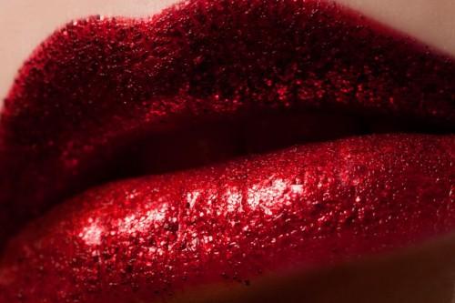 usta, czerwień, makijaż