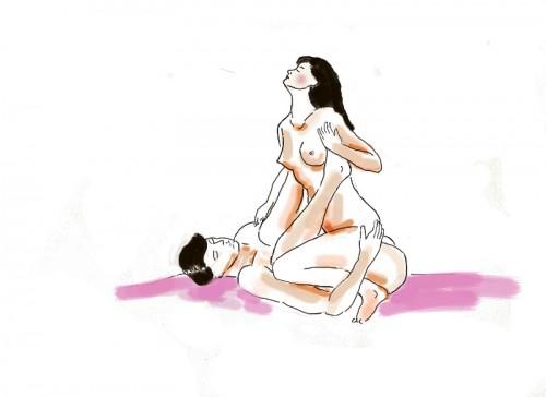 Kamasutra, seks, pozycje Kamasutry, pozycja amazonka