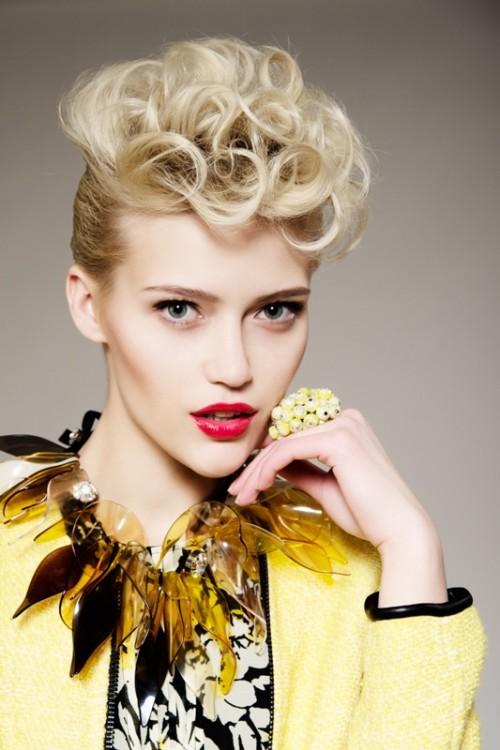 moda, naszyjnik, biżuteria, etno, fryzjer, makijaż, kobieta, styl