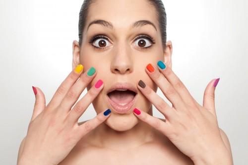 paznokcie, kolor, kobieta, uroda, manicure, makijaż