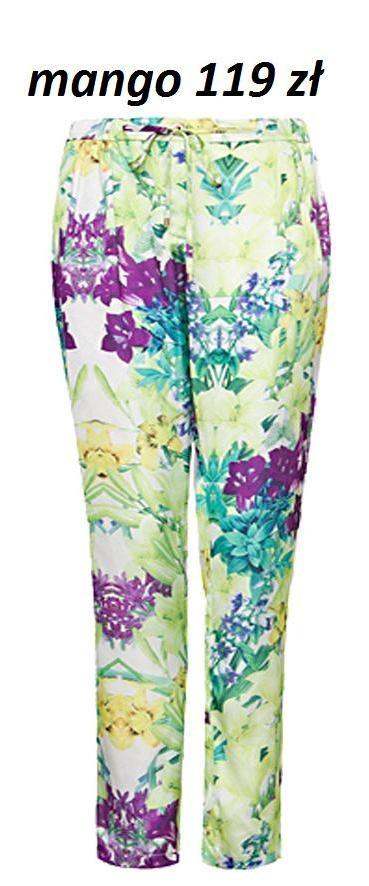 Kwieciste spodnie