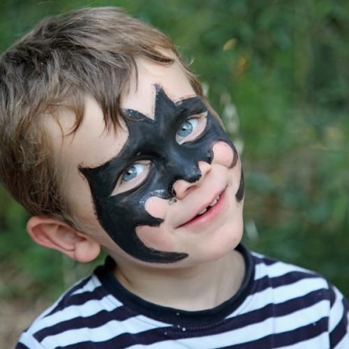 makijaż dziecięcy, malowanie buziek, batman