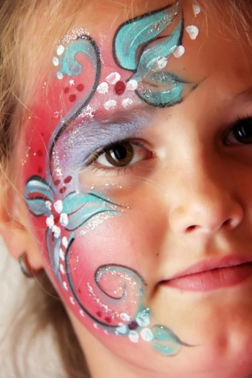 makijaż dziecięcy, malowanie buziek, dziewczynka