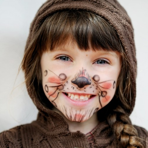 makijaż dziecięcy, zwierzaczek, dziewczynka, malowanie buziek