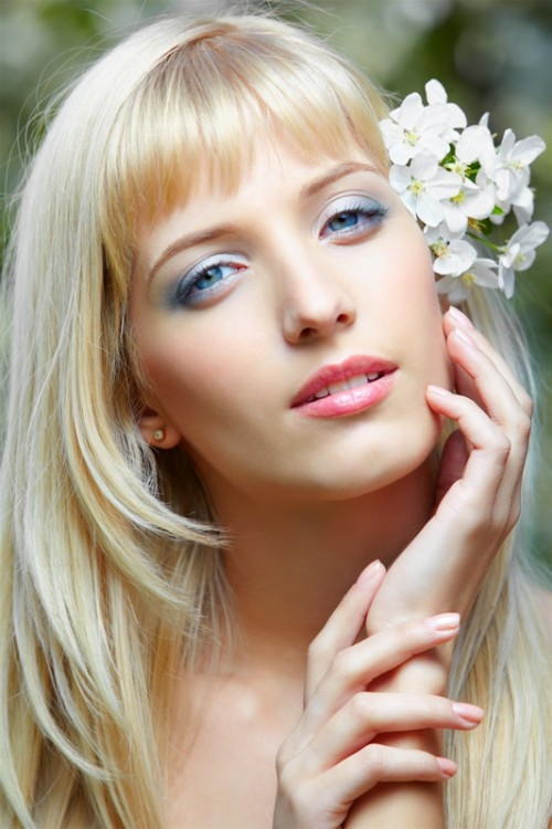 makijaż, kobieta, ślub
