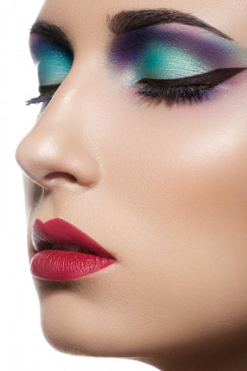 makijaż, twarz, kobieta