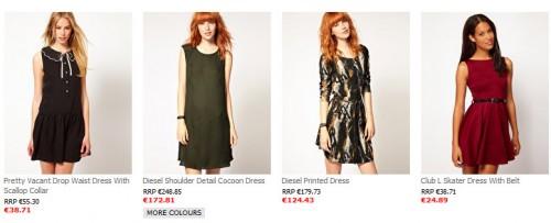 Sukienki z wyprzedaży asos.com