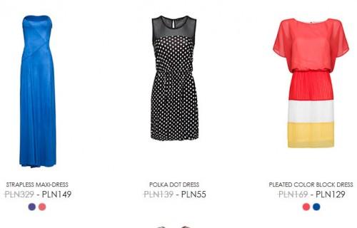 Sukienki z wyprzedaży mango.com