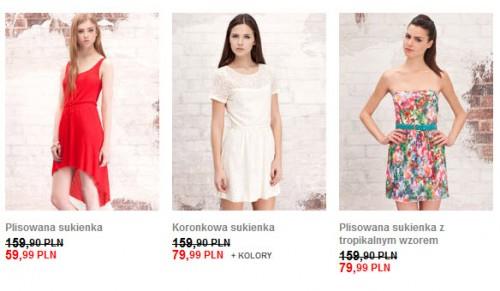 Sukienki z wyprzedaży Stardivarius