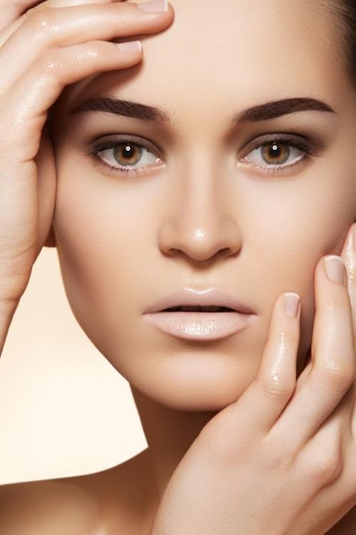 usta, makijaż, kobieta, twarz