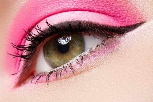 makijaż, oko, kreska, cienie