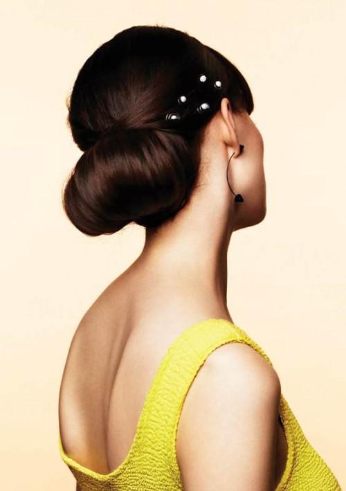 Fryzury - stylizacje Glitter, upięcie ślubne