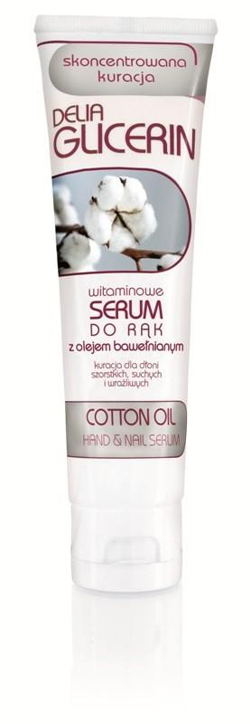 Glicerin -witaminowe serum do rąk z olejem bawełnianym Delia Cosmetics,ok. 5 zł/100ml