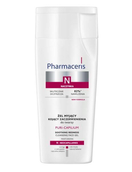 PURI-CAPILIUM Żel myjący kojący zaczerwienienia do twarzy, Pharmaceris, średnia cena detaliczna 26, 90 zł/200 ml