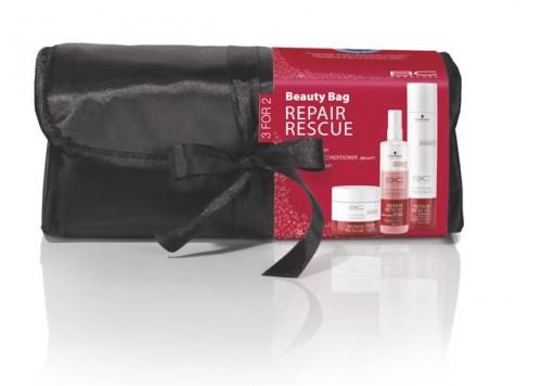 Zestaw świąteczny BC Repair Rescue, Schwarzkopf Professional, rekomendowana cena detaliczna zestawu z kosmetyczką 150 zł