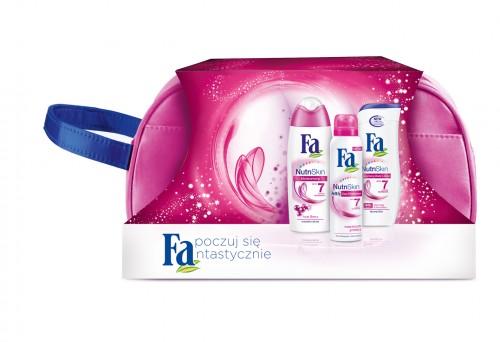 Zestaw świąteczny Fa NutriSkin Moisture, Schwarzkopf & Henkel, rekomendowana cena detaliczna z kosmetyczką ok. 22 zł