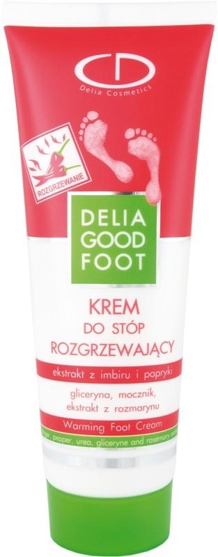 Rozgrzewający krem do stóp Delia Good Foot, Delia Cosmetics, cena ok. 6 zł/100 ml