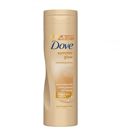 Brązujący balsam do ciała do jasnej karnacji, Dove, rekomendowana cena detaliczna: 20 zł/250 ml