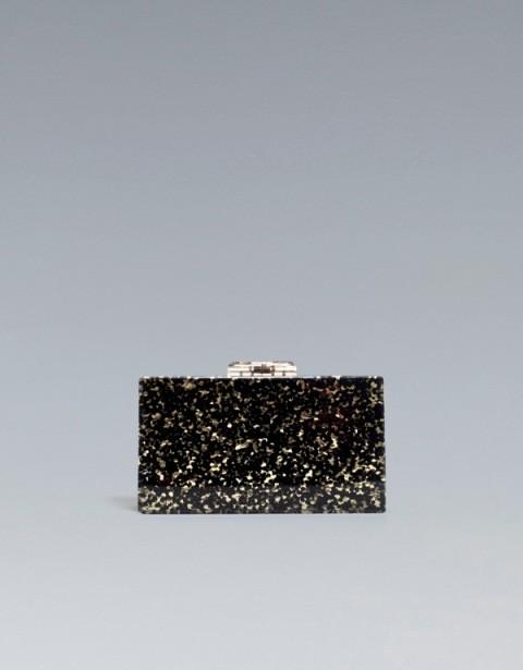 Czarno-złoty kuferek. Zara, 199 zł