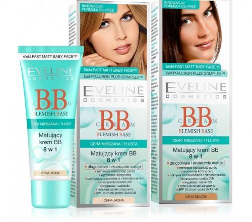 Matujący krem BB, Eveline Cosmetics, cena 14,99 zł/ 40 ml