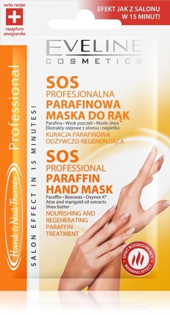 Sos profesjonalna parafinowa maska do rąk, eveline cosmetics, cena: 3zł/7ml.