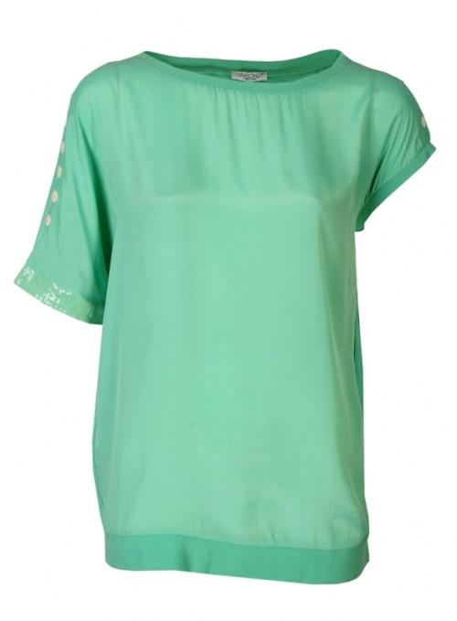 miętowy kolor, T-shirt Unisono, 129 zł