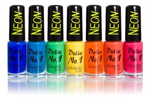 Nowe lakiery No.1 NEON, Delia Cosmetics, 3,50 zł/ 5 ml