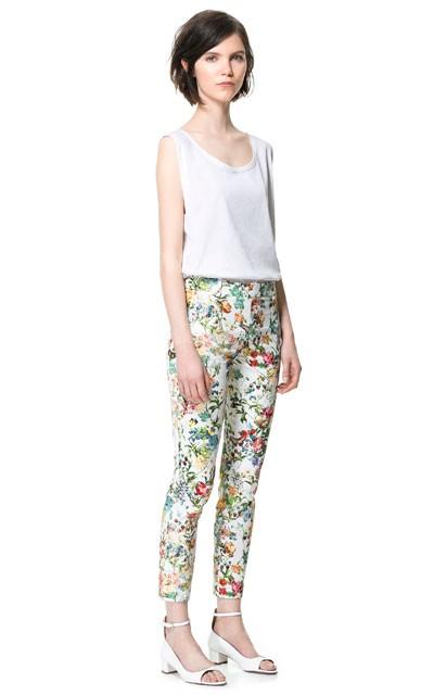 Spodnie w kwiaty Zara, 169.90 zł