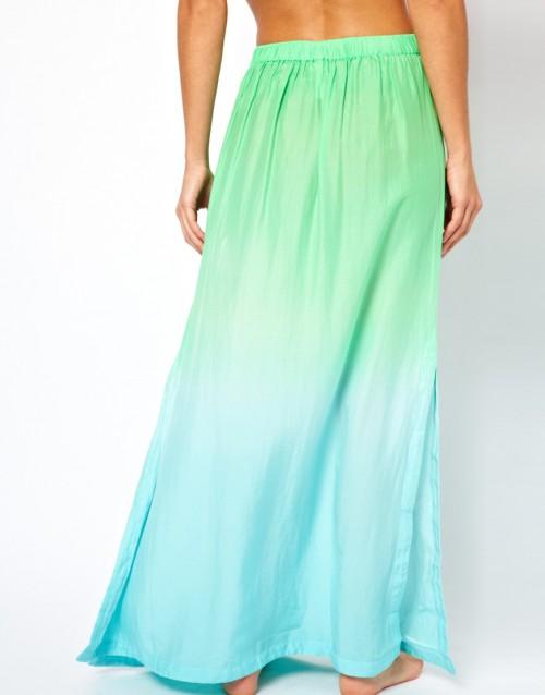 Spódnica maxi w romantycznym stylu, zielenie i błękity, asos.com, 96 euro