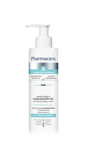 Physiopuric-gel nawilżający fizjologiczny żel do mycia twarzy i oczu, Pharmaceris, cena: 26,90 zł/190 ml