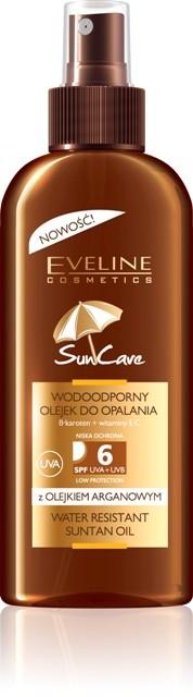 Wodoodporny olejek do opalania SPF 6, Eveline Cosmetics, cena: 17 zł/ 150 ml.