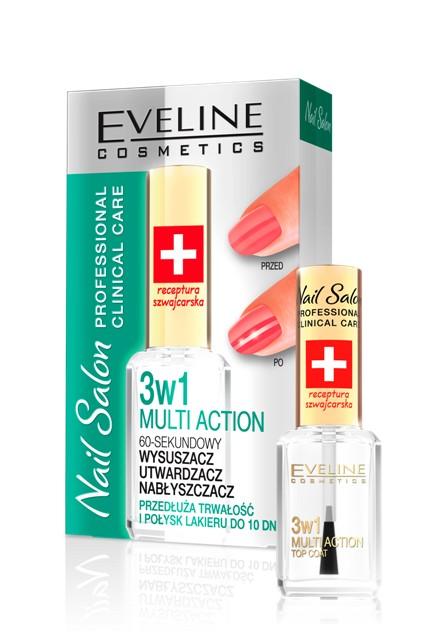 Preparat wzmacniająco-nabłyszczający o przedłużonym działaniu 3 w 1, Eveline Cosmetics, 15 zł/ 12 ml