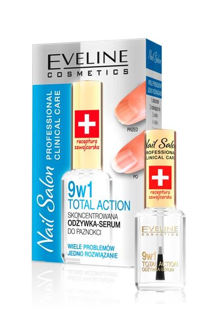 Skoncentrowana odżywka serum do paznokci 9 w 1 Total Effect, Eveline Cosmetics, 15 zł/ 12 ml