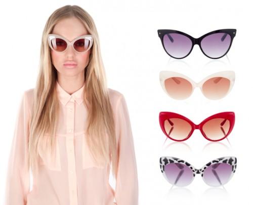 Okulary przeciwsłoneczne - kocie